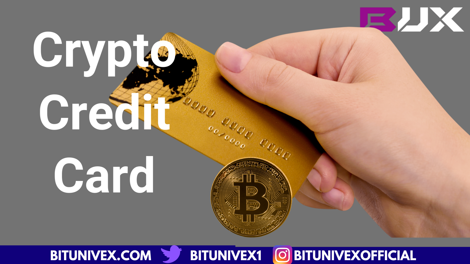 Bitunivex Exchange Credit Card for crypto