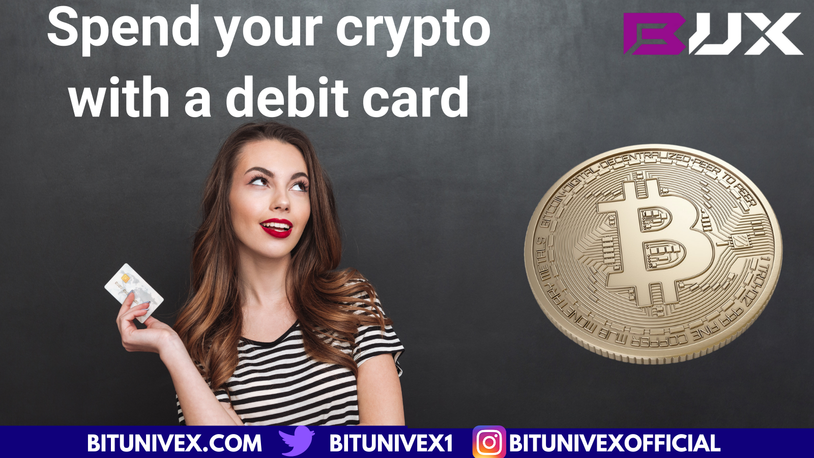 Spend your crypto with a Bitunivex Card
